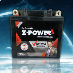 Z-Power Motorcycle Acid Lead Battery, Capacity: 2.5 to 12 Ah
