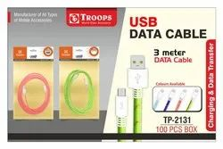 Troops Tp-2131usb To S3 3mtr Data Cable Colour