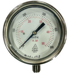 H.guru 63mm Capsule Low Range Pressure Gauge Back/bottom