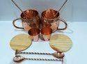 Copper Mugs Set