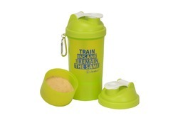 iShake vault 2 in 1 Green body White lid Shaker Bottle