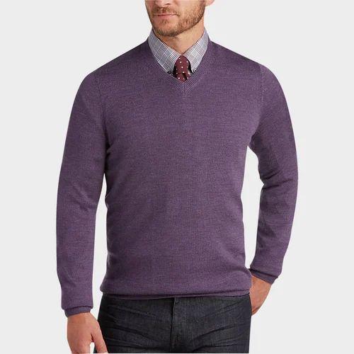 Men Plain Sweater