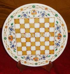 Marble Chess Design Plate