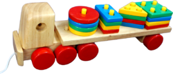 Pulling Shape & Colour Stacking Truck