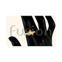 American Diamond Studded Finger Ring