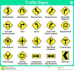 Warning Road Sign Traffic Signage - Traf...