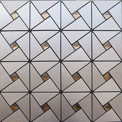 ACP Copper Plain Glass Mosaic Tile