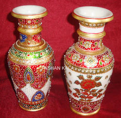 Gold Work Marble Designer Vase