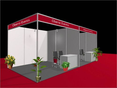 Exhibition Stall Fabricators In Lucknow : Optrimum stall on rent painting exhibition stall service