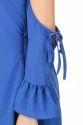 Ladies Blue Cold Shoulder Dress