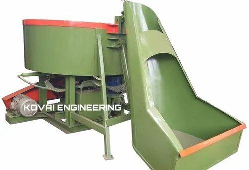 Hydraulic Hopper Door Open Pan Mixer Machine