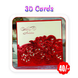 Multi Color -Wedding Invitation Cards (3D -A4 Size/ 300 Gsm)