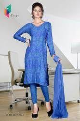 Royal Blue Italian Crepe Uniform Salwar Kameez
