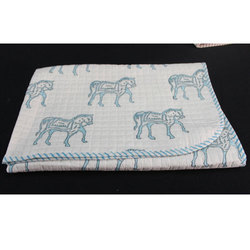 Horse Printed Baby Quilt