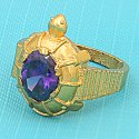 Brass Meru Shree Yantra Ring