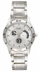Vespl Analogue White Dial Men's Watch (VW5002)