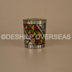 Mosaic Glass Votive Holders