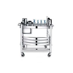 Stainless Steel Serving Trolley