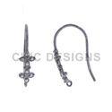 Diamond Silver Ear Wire Findings