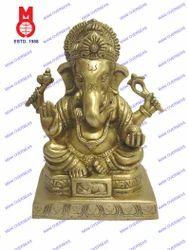 Lord Ganesh Sitting Shah Statue