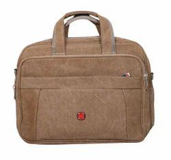 Office Laptop Canvas Bag Brown Color