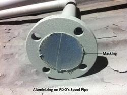 Thermal Spray Aluminum Coated Pipe with Masking