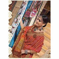 Pure Georgette Bandhani Saree