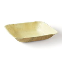 3.5 Inch Square Areca Leaf Bowl