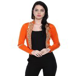 Ira-Soleil-Front-Open-Jacket-Shrug-With-Embelished-Lace