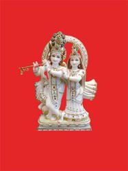 Radha-Krishna Standing Marble Moorti