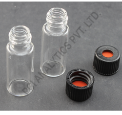 Screw Top Vials with Black Screw Cap