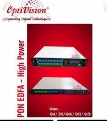 Optivision PON EDFA/ WDM EDFA With Original JDSU Pumps 16x16 PORT, For Ftth