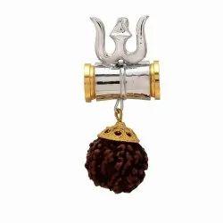 Trishul Rudraksha Damru Pendant