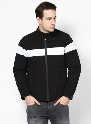 dc02cc744 Men Jackets - Black Solid Collar Jacket Retailer from Meerut