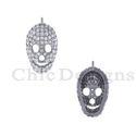 Natural Diamond Skull Charm Pendant
