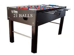 American Soccer Table Teak Black 2.5 X 5