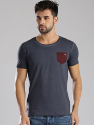 Men's Knitted Plain T-shirt