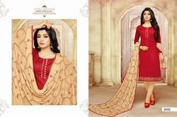 Round Neck Hasya Salwar Suit Fabric