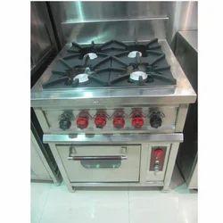 Burner Gas Range With Oven