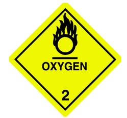 DOT Oxygen Shipping Labels