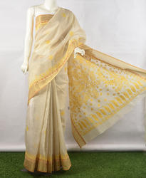 Chikan Embroidered Ladies Saree