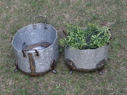 Galvanized Indoor- Outdoor Brass Welded Planters