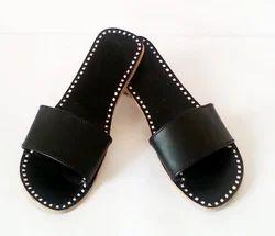 Leather Handmade Women Slipper