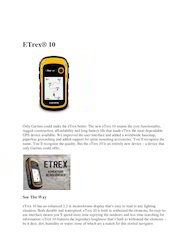 GPS ETREX 10 Garmin Global Positioning Systems