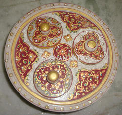 Painted Marble Decorative Plate