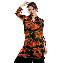 Ira-Soleil-Viscose-Strtched-All-Over-Flower-Print-Kurti