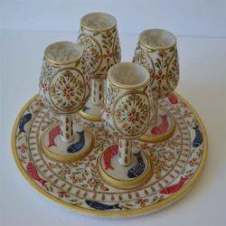 Marble Jaali Glass