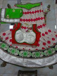 White Georgette Embroidered Lehenga Choli