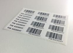 Dome Barcode Labels
