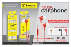 Troops Tp-7050 Music Earphone